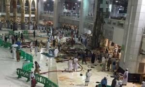 Τραγωδία στη Μέκκα: Γερανός καταπλάκωσε πιστούς στο Μεγάλο Τζαμί
