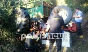 Ηλεία: Τραγικός θάνατος ηλικιωμένου - Καταπλακώθηκε από τρακτέρ