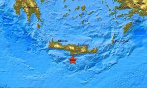Σεισμός 4,2 Ρίχτερ νότια του Ηρακλείου