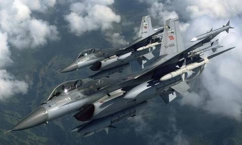 Two Turkish fighter jets flew over Farmakonisi on Tuesday