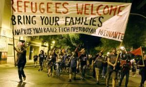 Αθήνα: Συγκέντρωση και πορεία υπέρ προσφύγων και μεταναστών (photos)