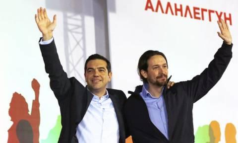Εκλογές 2015 - Ο Πάμπλο Ιγκλέσιας στην κεντρική προεκλογική συγκέντρωση του ΣΥΡΙΖΑ στο Σύνταγμα