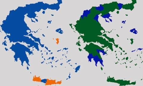 Εκλογές 2015 - Όλοι οι χάρτες των εκλογών από τη μεταπολίτευση μέχρι σήμερα
