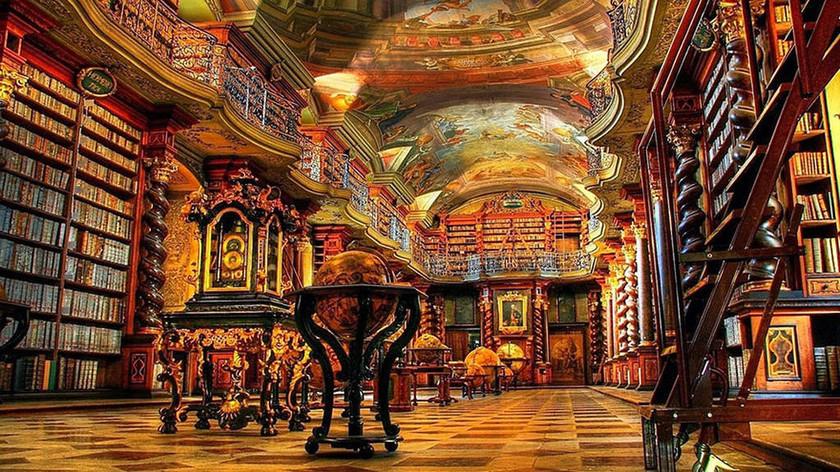 H πιο όμορφη βιβλιοθήκη του κόσμου βρίσκεται στην Πράγα (photos)