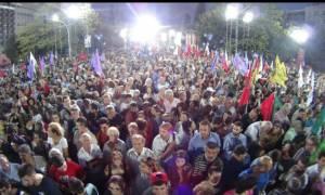 Εκλογές 2015: «Βούλιαξε» το Σύνταγμα στην προεκλογική συγκέντρωση του ΣΥΡΙΖΑ