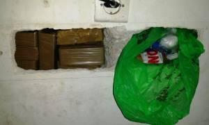 Κέρκυρα: Έκρυβε στον τοίχο του σπιτιού του περισσότερα από 5 κιλά ηρωίνης (pics&vid)