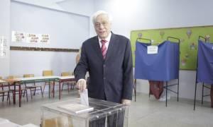 Εκλογές 2015 - Προκόπης Παυλόπουλος: Ελπίζω το αποτέλεσμα να δικαιώσει τις θυσίες του λαού μας
