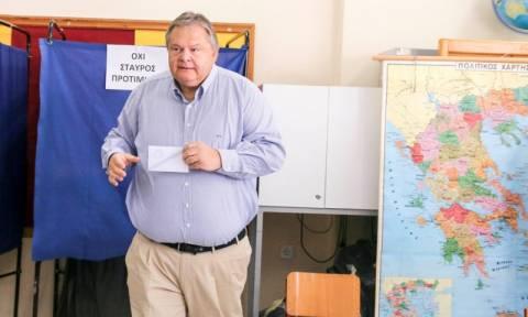 Εκλογές 2015 - Βενιζέλος: Ο λαός ζητάει συστράτευση -Ελπίζω να διασφαλιστεί αυτό σήμερα