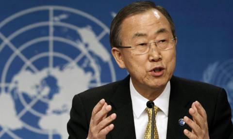 Μπαν Κι Μουν: Εξέφρασε τη βαθύτατη ανησυχία του για το μεταναστευτικό