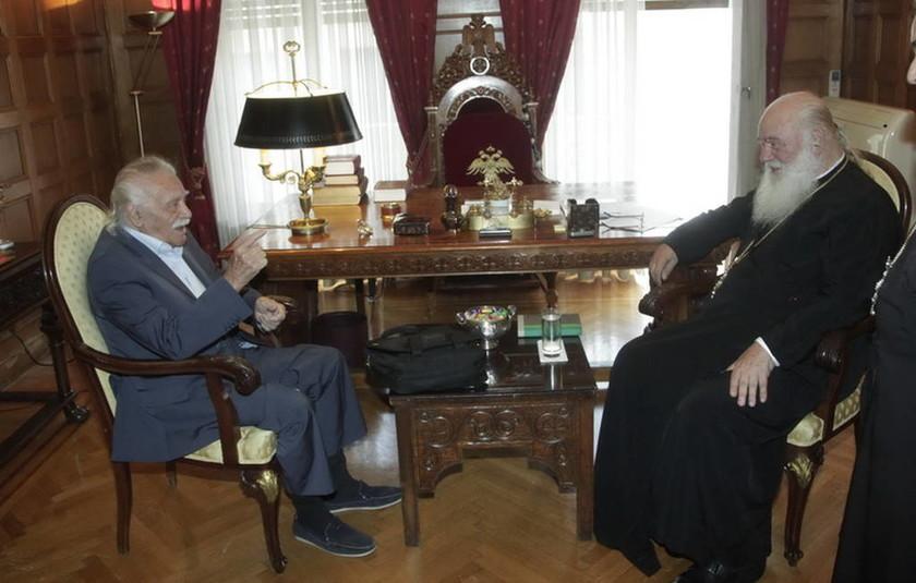 Συνάντηση του Αρχιεπισκόπου Ιερωνύμου με τον Μανώλη Γλέζο (pics)