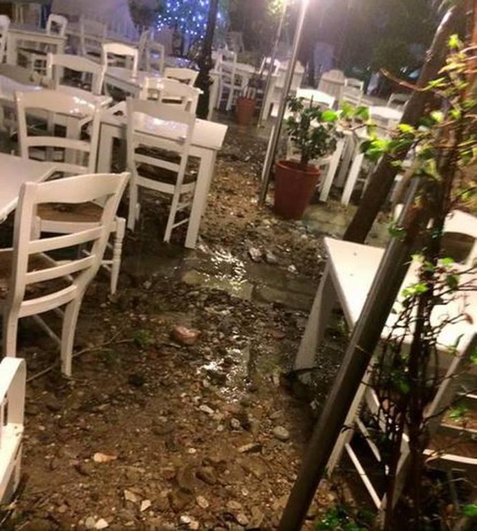Κακοκαιρία: Καταστροφές σε Ρόδο, Σκόπελο και Χαλκιδική