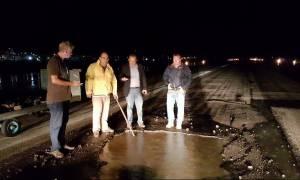 Λειτουργεί και πάλι το αεροδρόμιο της Ρόδου μετά το πέρασμα της κακοκαιρίας (photos)