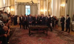 Η ορκωμοσία της νέας κυβέρνησης μέσα από φωτογραφίες και video