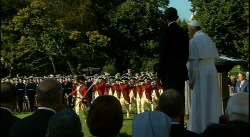 Στο Λευκό Οίκο ο Πάπας Φραγκίσκος (videos+photos)