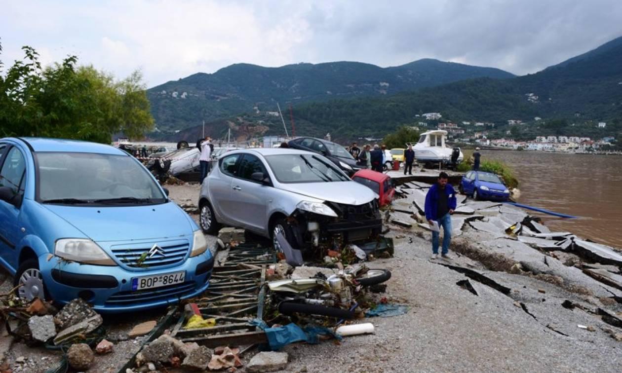 Εικόνες βιβλικής καταστροφής στη Σκόπελο (vid&pics)