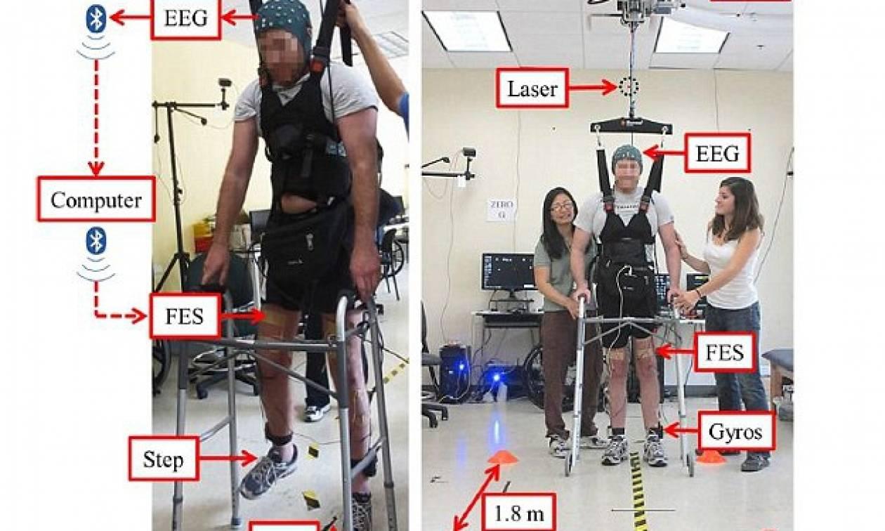 ΗΠΑ: Περπάτησε με τη δύναμη του μυαλού και με λίγη τεχνολογική βοήθεια