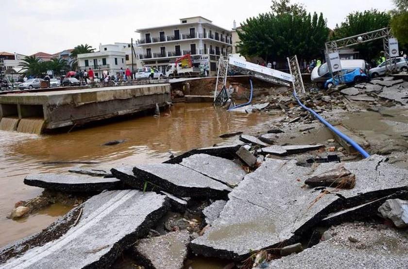 Армия спешит на помощь на Скопелос после стихии