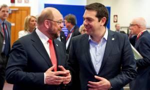 Συνάντηση Τσίπρα με Σουλτς για την εμπλοκή της Ευρωβουλής στην αξιολόγηση