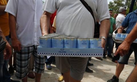Ηράκλειο: Συνεχίζεται η συγκέντρωση τροφίμων και ειδών πρώτης ανάγκης για τους πρόσφυγες