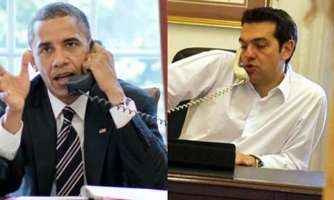 Τηλεφωνική επικοινωνία Τσίπρα – Ομπάμα