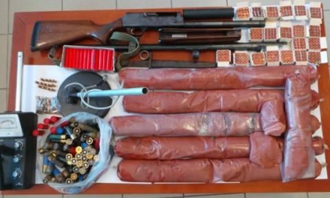 Ηράκλειο: Σύλληψη 56χρονου με 20 κιλά ζελατοδυναμίτιδα