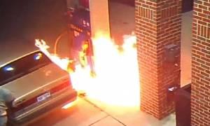 Προσπάθησε να σκοτώσει μία αράχνη και έβαλε φωτιά σε βενζινάδικο (video & photos)