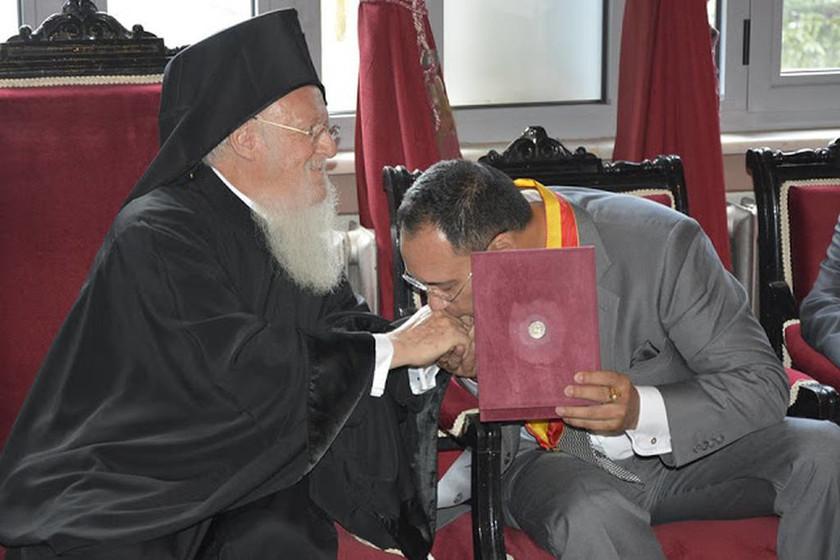 Tα αποκαλυπτήρια της προτομής του Οικ. Πατριάρχου στην Χάλκη (pics)