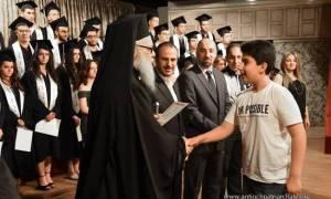 Ο Αντιοχείας Ιωάννης στην τελετή αποφοίτησης Ελληνορθόδοξου σχολείου στη Συρία (pics)
