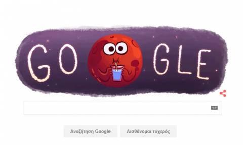 H Google γιορτάζει την ανακάλυψη του τρεχούμενου νερού στον Άρη με ένα Doodle (pics+gif+video)