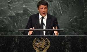 Ρέντσι στον ΟΗΕ: Η Iταλία είναι έτοιμη να παίξει ρόλο κλειδί στην Λιβύη