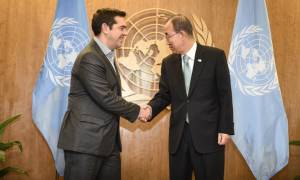 Μεταναστευτικό, Κυπριακό και Σκοπιανό στο επίκεντρο της συζήτησης Τσίπρα - Μπαν Κι Μουν