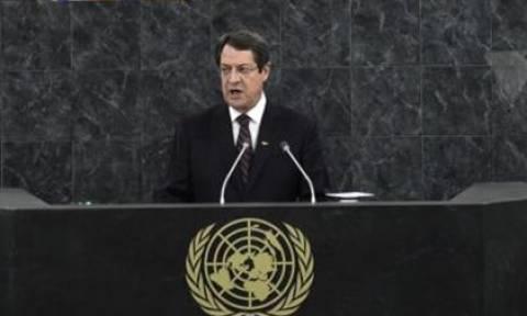Τις κόκκινες γραμμές της Λευκωσίας παρουσίασε ο  Αναστασιάδης στον ΟΗΕ