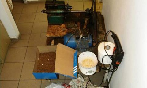 Τρίκαλα: Εντοπίστηκε αυτοσχέδιο εργαστήριο κοπής και αποξήρανσης καπνού