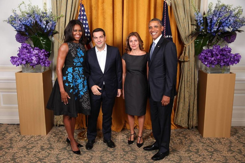 Στη δημοσιότητα η φωτογραφία με τα ζεύγη Ομπάμα και Τσίπρα
