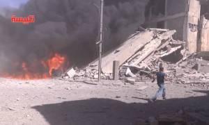 Ρωσικά μαχητικά σφυροκοπούν τη Συρία - Αντιδράσεις από ΗΠΑ (videos & photos)