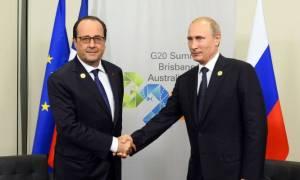 Ψυχρό κλίμα και παγωμένα πρόσωπα στη συνάντηση Πούτιν-Ολάντ