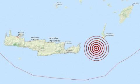 Σεισμός 3,6 Ρίχτερ νότια της Κάσου