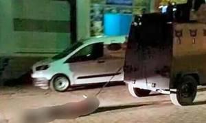 Βίντεο-σοκ: Τεθωρακισμένο όχημα της τουρκικής αστυνομίας σέρνει πτώμα Κούρδου