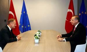 Χωρίς αποτελέσματα για το προσφυγικό ολοκληρώθηκε η επίσκεψη Ερντογάν στις Βρυξέλλες