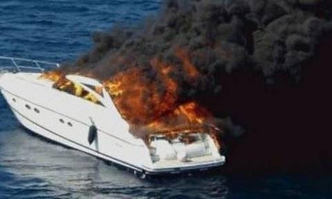 Λευκάδα: Πυρκαγιά σε κότερο ανοιχτά του νησιού
