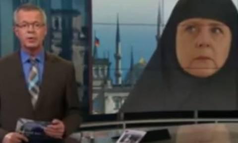 Σάλος με την αποτυχημένη σάτιρα γερμανικού καναλιού που «φόρεσε» τσαντόρ στη Μέρκελ (video)