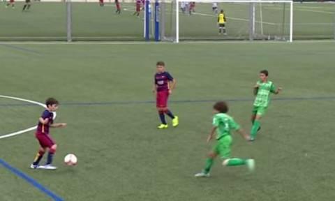 Τα 12χρονα της Μπαρτσελόνα ξέρουν πολλά καντάρια μπάλα (video)