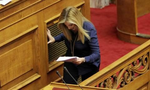 Βουλή: Παραλίγο να πέσει η Φώφη Γεννηματά (pics)