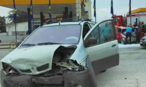 Σοβαρό τροχαίο με τραυματία στις Σέρρες (photos)