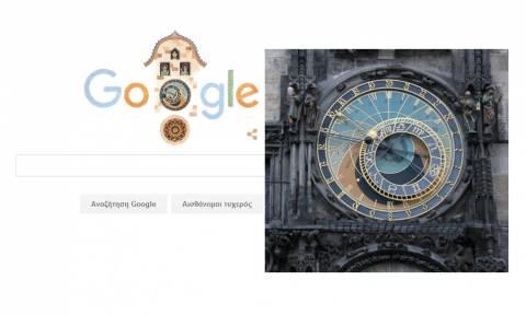 605η επέτειος του Αστρονομικού Ρολογιού της Πράγας από την Google (video)