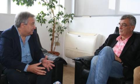 Με τον δήμαρχο Λέσβου συναντήθηκε ο ύπατος αρμοστής του ΟΗΕ Γκουτέρες