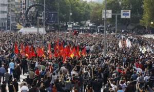 Μεγάλη διαδήλωση στην Άγκυρα για τα θύματα των βομβιστικών επιθέσεων