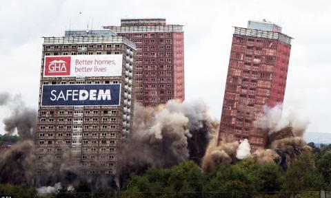 Δείτε τι συνέβη στη Γλασκώβη στην κατεδάφιση ουρανοξύστη (video)