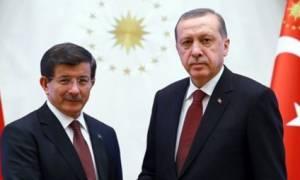 Ερντογάν και  Νταβούτογλου στα Κατεχόμενα