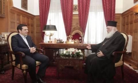 Τρίωρη συνάντηση Τσίπρα με  Αρχιεπίσκοπο